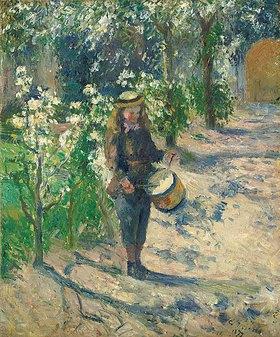 Camille Pissarro: Kind mit Trommel