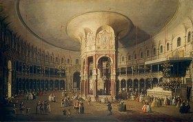 Canaletto (Giovanni Antonio Canal): London, Ranelagh, Innenansicht der Rotunde