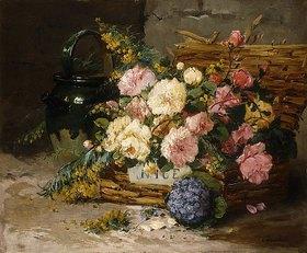 Eugene Henri Cauchois: Blumenstillleben (Frühling)