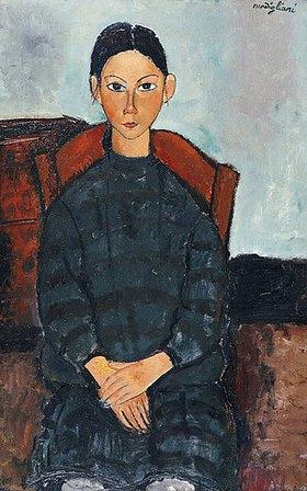 Amadeo Modigliani: Junges Mädchen mit einem dunklen Kleid