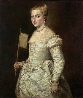 Tizian (Tiziano Vecellio): Die Dame in Weiß