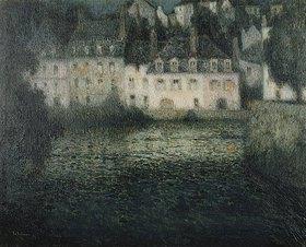 Henri Le Sidaner: Haus am Fluss im Mondlicht, Quimperle