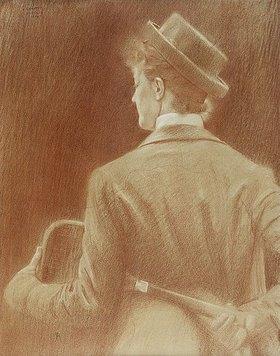 """Fernand Khnopff: Eine Tennisspielerin, Studie für """"Memories"""""""