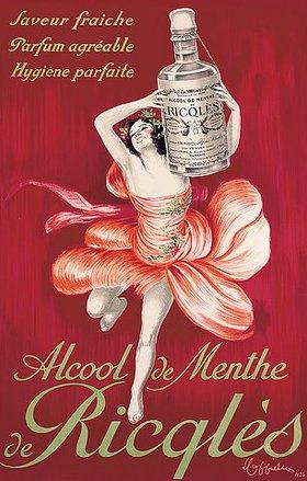 Leonetto Cappiello: Alcool de menthe de Ricqles. 1924 (gedruckt bei Les Nouvelles Affiche Cappiello)
