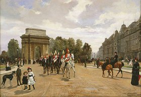 Filippo Baratti: Die Life Guards passieren Hyde Park Corner, London