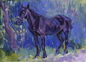 Robert Bevan: Studie eines Pferdes in Sussex