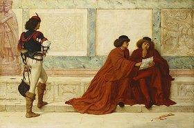 Henry Wallis: Nachricht aus Trebizond, Szene aus Shakespeare's Kaufmann von Venedig