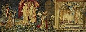 Sir Edward Burne-Jones: Sir Galahad, Bors und Parzival finden den Heiligen Gral