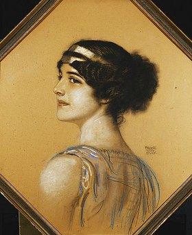 Franz von Stuck: Porträt der Tochter des Künstlers, Mary