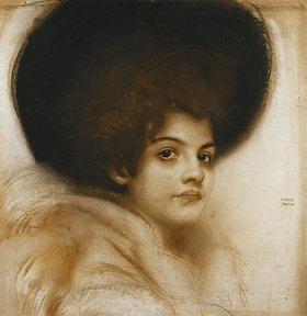 Franz von Stuck: Porträt einer Dame mit Hut