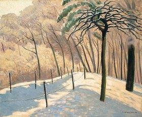 Felix Vallotton: Schneelandschaft im Bois den Boulogne