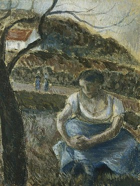 Camille Pissarro: Sitzende Bäuerin (Paysanne Assise)