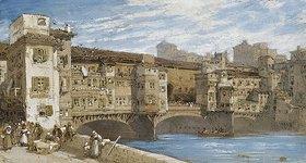 William Callow: Der Ponte Vecchio in Florenz