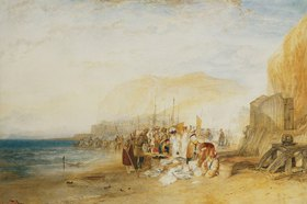 Joseph Mallord William Turner: Hastings: Frühmorgendlicher Fischmarkt am Strand