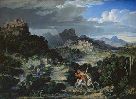 Joseph Anton Koch: Landschaft mit dem hl. Georg