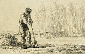 Jean-François Millet: Bauer mit Mistgabel