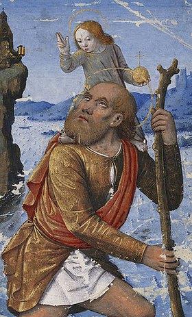 Jean Bourdichon: Heiliger Christophorus