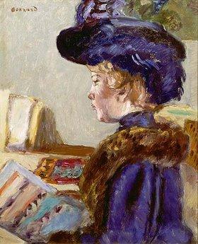 Pierre Bonnard: Junge Frau mit Kunstdrucken