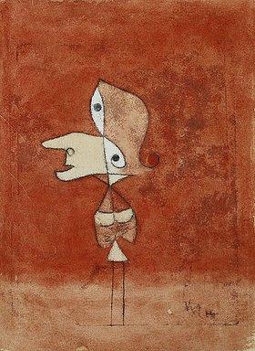 Paul Klee: Bildnis Brigitte (Ganze Figur)