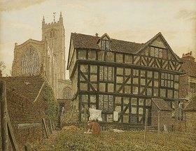 George Price Boyce: Kirche und unbewohntes Haus in Ludlow