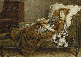George Goodwin Kilburne: Eine junge Dame, lesend in einem Zimmer