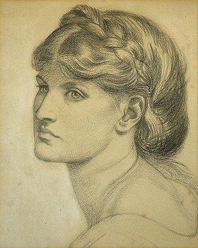 Dante Gabriel Rossetti: Studie für 'The Bower Meadow'