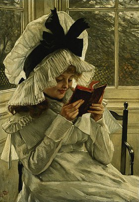 James Jacques Tissot: Mädchen, ein Buch lesend