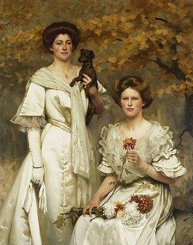 Thomas Cooper Gotch: Hilda und Margaret, Töchter des Professor Sir Edward Poulton