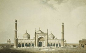 William Daniell: Die Jama Masjid in Delhi