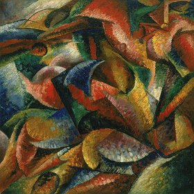 Umberto Boccioni: Dynamismus eines menschlichen Körpers