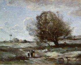 Jean-Baptiste Camille Corot: Landschaft in der Picardie