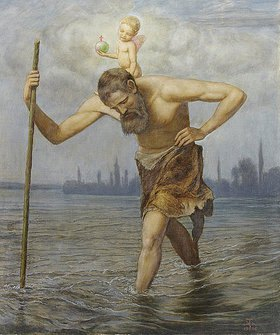 Hans Thoma: Der hl. Christophorus