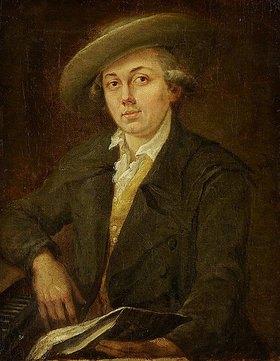 Johann Georg Schütz: Bildnis eines Musikers (Bildnis des Komponisten Joseph Martin Kraus?)