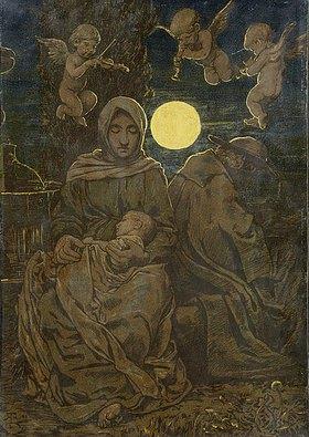Hans Thoma: Ruhe auf der Flucht (Heilige Familie)