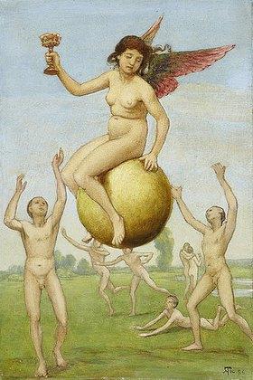 Hans Thoma: Das Glück (Schwebende Fortuna)