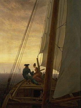 Caspar David Friedrich: Auf dem Segler