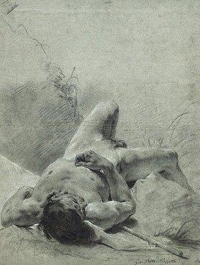 Giovanni Battista Piazzetta: Ein jugendlicher Akt auf einer Standarte