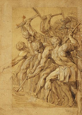 Peter Paul Rubens: Soldaten zerstören eine Brücke