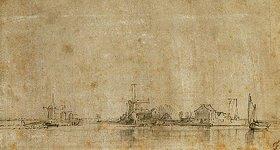 Rembrandt van Rijn: Blick auf die Amstel bei Omval, zur Linken Ringvaart am Diermermeer