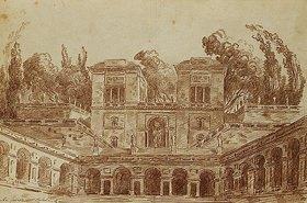 Hubert Robert: Die Villa Farnese, Rom