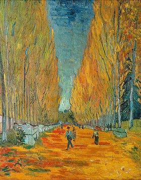 Vincent van Gogh: Die Alyscamps, Allee in Arles