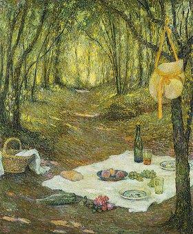 Henri Le Sidaner: Picknick im Wald (Le Gouter sous Bois, Gerberoy)