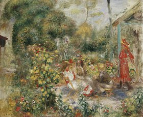 Auguste Renoir: Mädchen in einem Garten in Montmartre