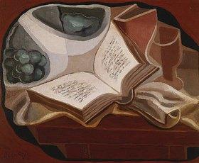 Juan Gris: Stilleben mit Buch und Obstschüssel (Livre et Compotier)