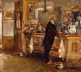 Frederick Childe Hassam: McSorley's Bar