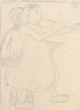 Paula Modersohn-Becker: Blasendes Kind