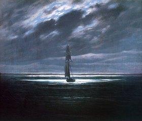 Caspar David Friedrich: Seestück bei Mondschein