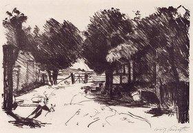 Lovis Corinth: Gehöft unter Bäumen