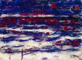 Christian Rohlfs: Ostseestrand bei Ahlbeck (Blau-rote Dämmerung)