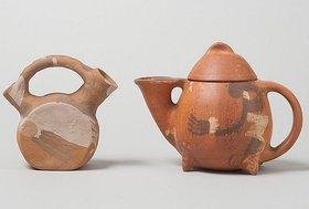 Bernhard Hoetger: Bügelkanne und Teekanne (Worpsweder Kunsthütten)